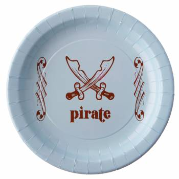 6 Assiettes P'tit Pirate