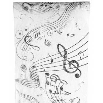 Chemin de table intissé musique