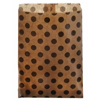24 Pochettes papier pois kraft
