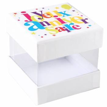 4 boîtes Joyeux anniversaire multicolore