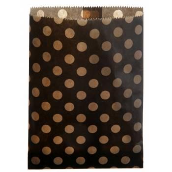 24 Pochettes papier pois noir