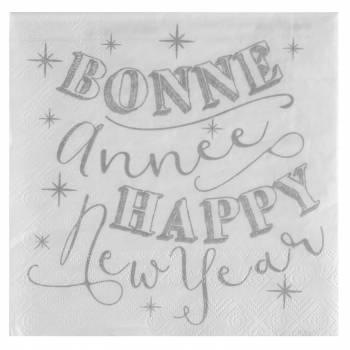 20 Serviettes Bonne Année
