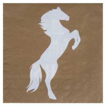 20 Serviettes kraft chevaux