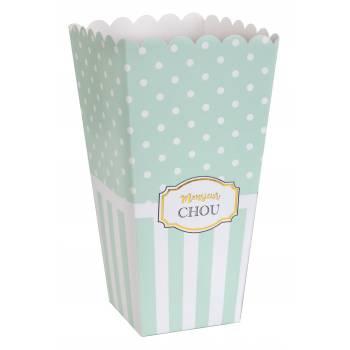 8 Boîtes pop corn Monsieur Chou