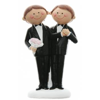 Figurine mariage gay Mr et Mr