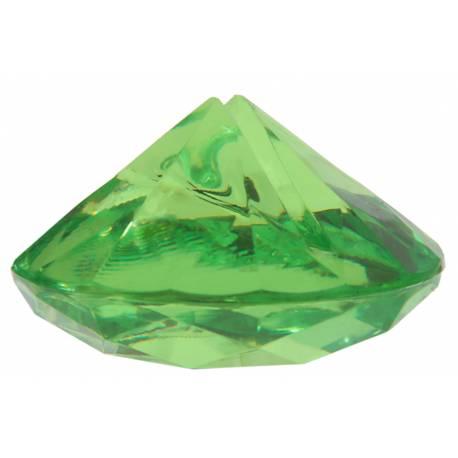 Paquet de 4 marque-places diamant rouge en plastique pour la deco de vos fêtes. Dimensions : 4 cm x 2 cm