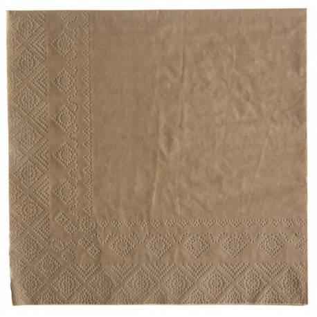 20 Serviettes papier kraft Dimensions :16.5 x 16.5 cm / 33 x 33 cm