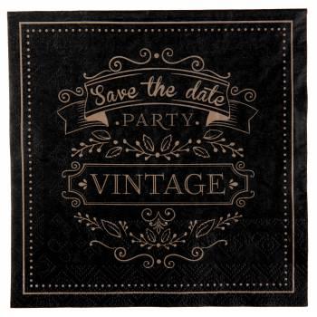 20 Serviettes papier vintage