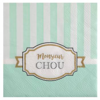 20 serviettes Monsieur Chou