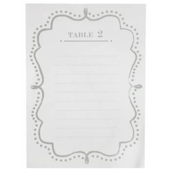 10 Plans de table blanc