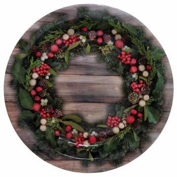 10 Assiettes Houx de Noël