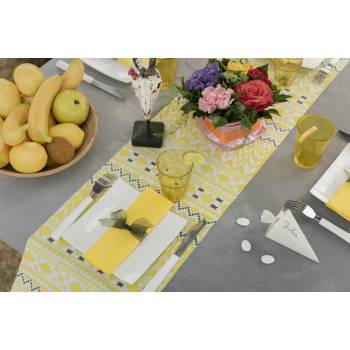 Chemin de table Ethnique jaune