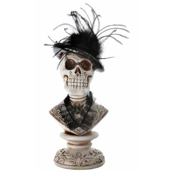Buste tête de mort baroque