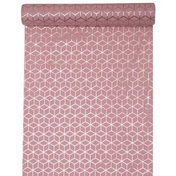 Chemin de table coton carreaux de ciment rose