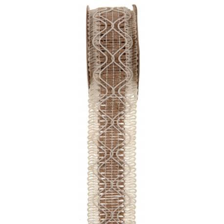 Ruban en jute losange Dimensions: 40 mm x 3 Mètres