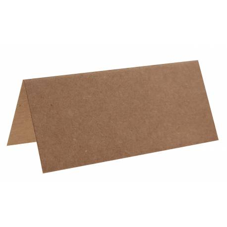 10 Marques place kraft rectangle en carton Dimensions : 7 x 3 cm