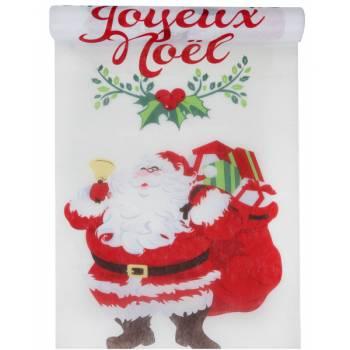 Chemin de table Papa Noël