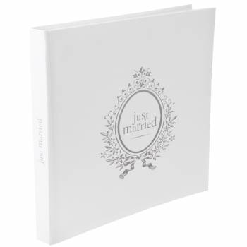 Livre d'or Just Married blanc