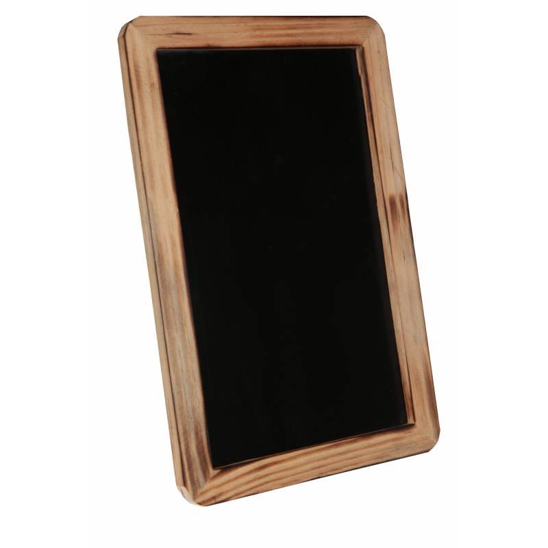 Marque table grande ardoise bord bois