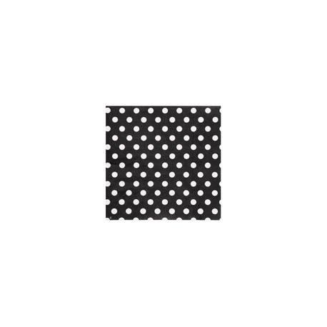 20 Serviettes en papier mini pois noir 17 cm x 17cm fermé 33 cm x 33 cm ouverte