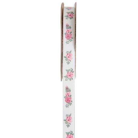 Ruban autocollant en coton avec fleurs pour décoration de table printannière et bucolique Dimensions : 10mm x 5 Mètres