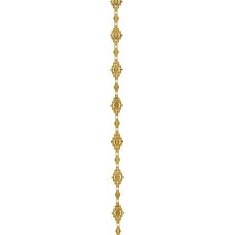 Guirlande en PVC de couleur or idéal pour une décoration chic et baroque Dimensions : 1.5 x 2.5 cm / 200 cm