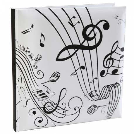Livre d'or thème musique Dimensions : 24 cm x 24 cm