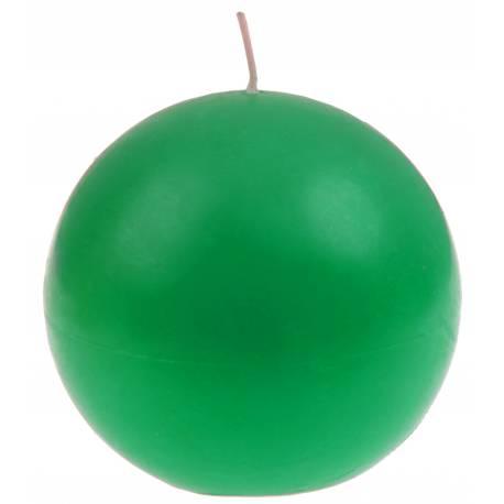 Bougie ronde verte pour votre deco de table de fête Ø 7 cm
