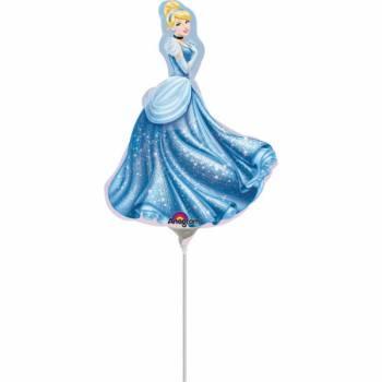 Mini ballon Princesse Cendrillon gonflé