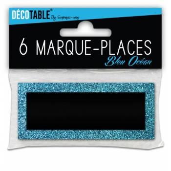 6 Marques place pailleté Bleu