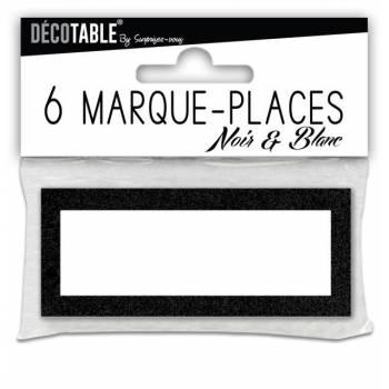 6 Marques places noir et blanc