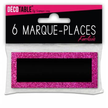 6 Marques place pailleté Fuchsia
