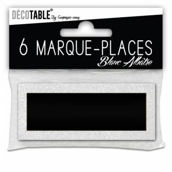 6 Marques place pailleté blanc