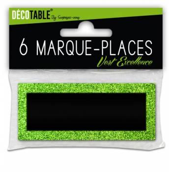 6 Marques place pailleté Vert