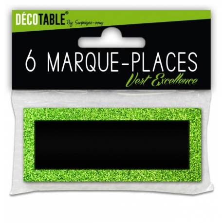6 Marques place pailletéVert