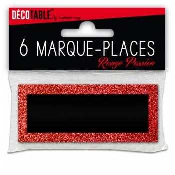 6 Marques place pailleté Rouge
