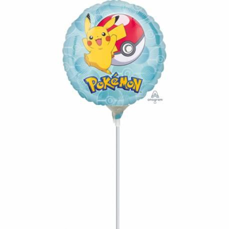 Ballon à main en aluminium idéal pour offrir à chaque invité pour un anniversaire thème Pokemon Le ballon est livré gonflé avec une...