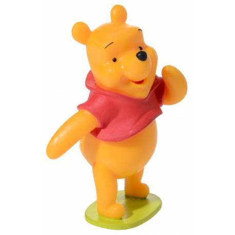 Kit de 4 décors pour gâteau en plastique sur le thème de Minnie baby - 2 sapins - 1 bouquet de ballons - figurine Winnie