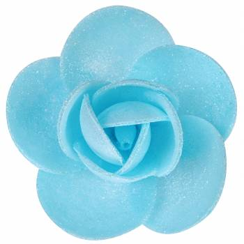 10 Roses azyme bleu nacre