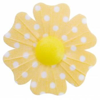 10 Fleurs azyme pois jaune