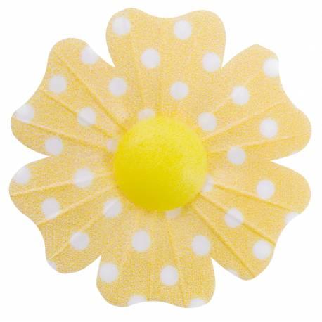 10 Fleurs en azyme (papier alimentaire) à poisjaune Ces fleurs sont idéales pour décorer vos gâteaux, cupcakes et glace Si vous désirez...
