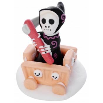 Figurines décors sucre La mort en chariot