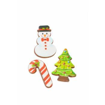 9 Mini décors sucre biscuits Noël