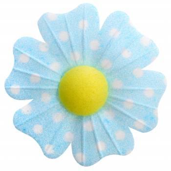10 Fleurs azyme pois bleu