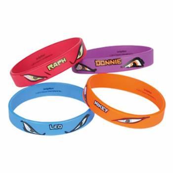 4 Bracelets Tortues Ninja