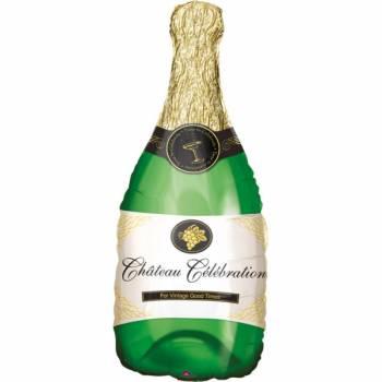 Ballon Super Géant Bouteille de champagne verte