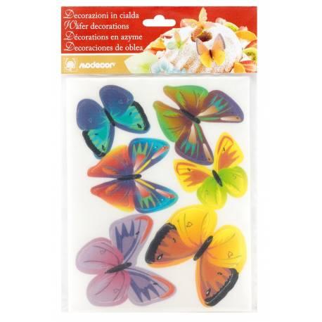Assortiment de 2 plaques de papillons en azyme pour décorer vos gâteaux. Aux multiples couleurs ces papillons azyme apporterons de la...