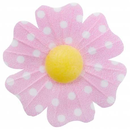 10 Fleurs en azyme (papier alimentaire) à pois rose Ces fleurs sont idéales pour décorer vos gâteaux, cupcakes et glace Si vous désirez...