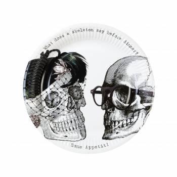 8 Assiettes Skeleton Crew