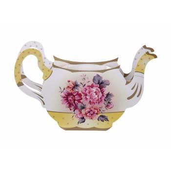 Vase thèière vintage en carton